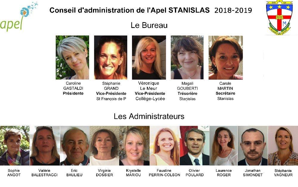 Nouveau bureau Apel Stanislas
